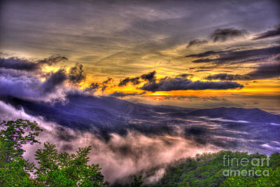 Richland County Photograph - The Blue Ridge Parkway Pink Beds Overlook by Reid Callaway