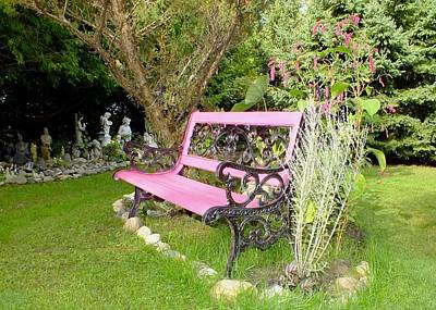 Photograph - Pink Bench by Peggy King