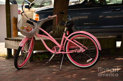 Photograph - Pink Bicycle   by Bob Sample