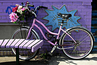 Photograph - Pink Bicycle by John Jacquemain