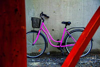 Photograph - Pink Bicycle by Rick Bragan
