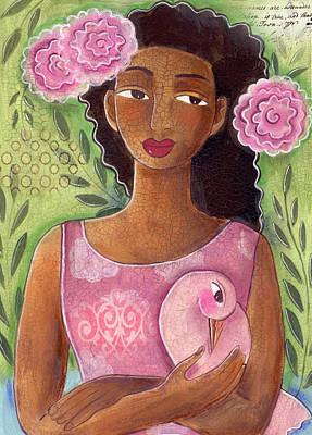 Painting - Pink Bird by Elaine Jackson