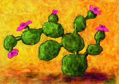 Painting - Beaver Tail In Bloom by Sandra Selle Rodriguez