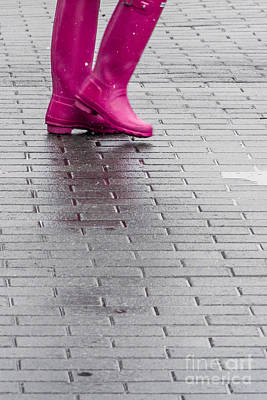 Pink Boots 1 Art Print by Susan Cole Kelly Impressions