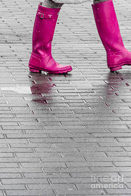 Digital Art - Pink Boots 2 by Susan Cole Kelly Impressions