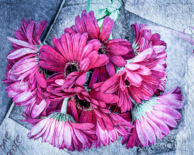 Digital Art - Pink Bouquet by Susan Cole Kelly Impressions