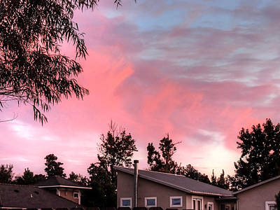 Photograph - Pink Brush Strokes In The Sky by Cathy Jourdan