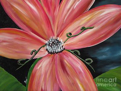 Pink Burst Original by Beverly Livingstone