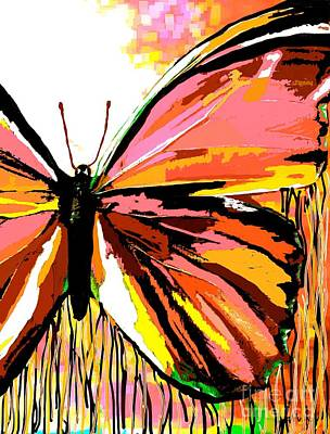Painting - Pink Butterfly by Saundra Myles