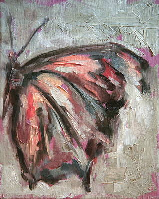 Pink Butterfly Wing Original by Meredith Oneal
