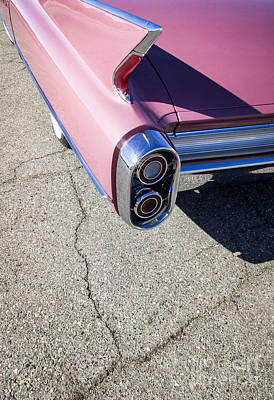 Street Rod Photograph - Pink Caddillac by Holly Martin