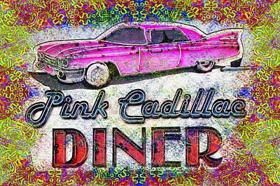 Tye Dye Photograph - Pink Cadillac Diner Tye Dye by Bill Cannon