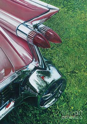 Pink Cadillac Original by Lisa Prusinski