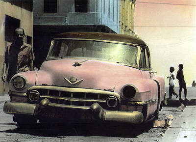 Photograph - Pink Cadillac by Ulf Sandstrom