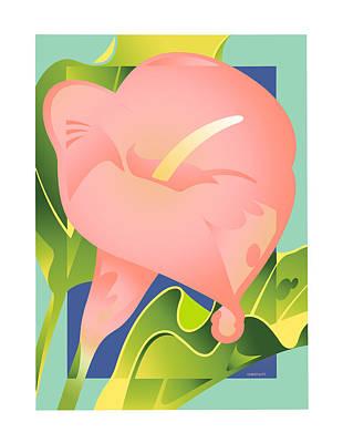 Pink Calla Art Print