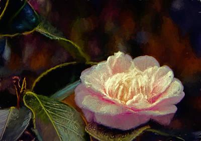 Flora Mixed Media - Pink Camellia by John K Woodruff