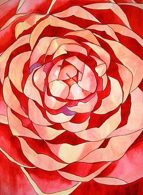 Pink Camellia Macro Art Print by Sacha Grossel