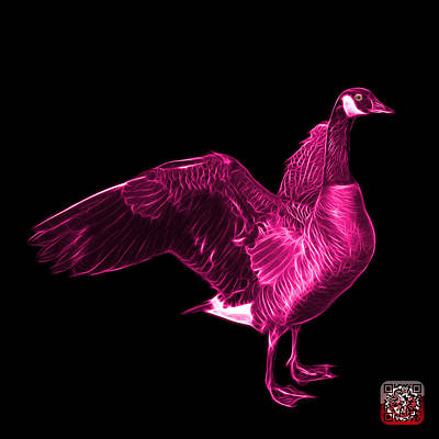 Mixed Media - Pink Canada Goose Pop Art - 7585 - Bb  by James Ahn