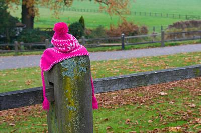 Pink Cap Art Print