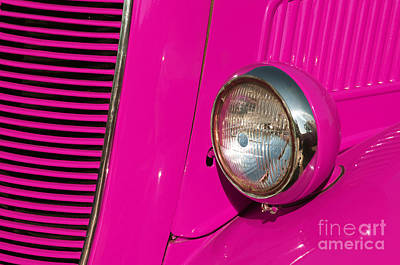 Old Style Photograph - Pink Car by Carlos Caetano