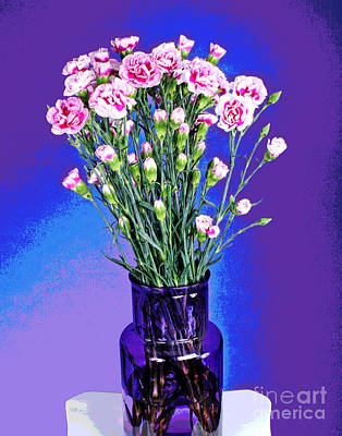 Photograph - Pink Carnations by Larry Oskin