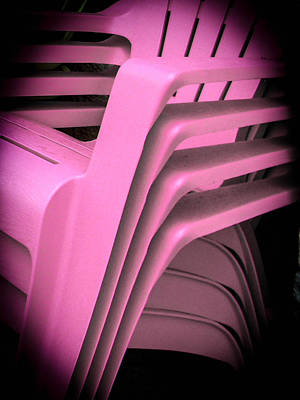 Photograph - Pink Chairs by Christy Usilton