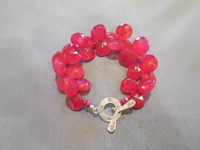 Sterling Silver Bracelet Jewelry - Pink Chalcedony Bracelet by Jan Durand