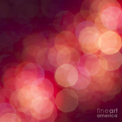 Defocused Photograph - Pink Champagne by Jan Bickerton