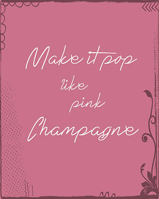 Champagne Painting - Pink Champagne by Tara Moss