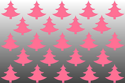 Pink Christmas Art Print by Chastity Hoff