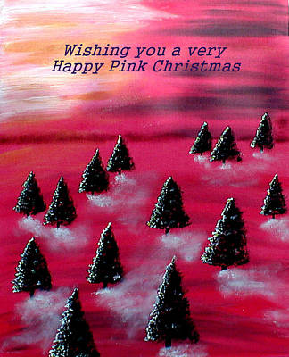 Painting - Pink Christmas by Sandy Wager