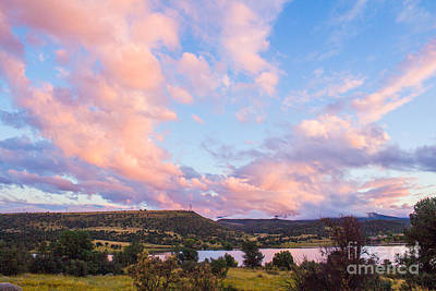 Pink Cloud Landscape Art Print by Phyllis Bradd