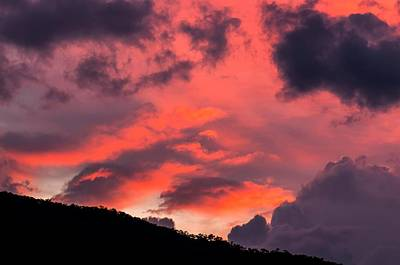 Grey Clouds Photograph - Pink Clouds After Sunset by K Jayaram