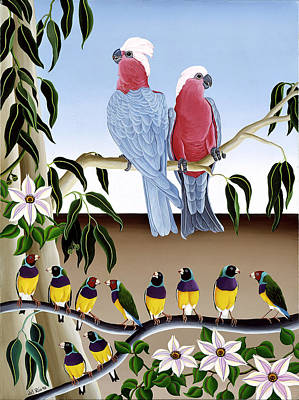 Pink Cockatoos Original