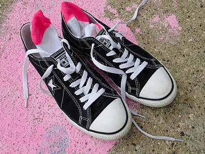 Digital Art - Pink Converse by Geoff Strehlow