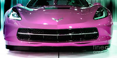 Pink Corvette Art Print