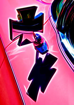 Wing Mirror Photograph - Pink Custom Mirrors by Phil 'motography' Clark