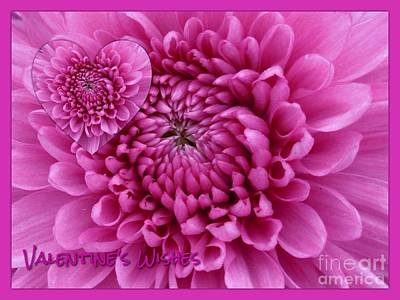 Photograph - Pink Dahlia Valentine's Wishes by Joan-Violet Stretch