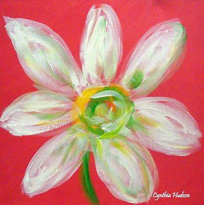 Pink Daisy Art Print by Cynthia Hudson