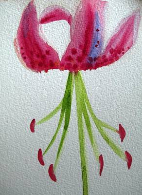 Pink Day Lily Art Print by Sacha Grossel