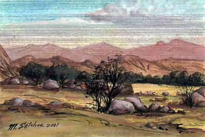 Pink Desert Spring Original by Mikhail Savchenko