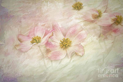 Art Print featuring the painting Pink Dogwood by Linda Blair