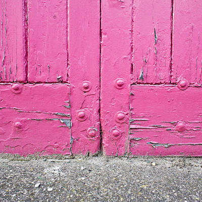 Frame House Photograph - Pink Door by Tom Gowanlock