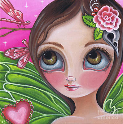 Pop Surrealism Painting - Pink Dragonflies by Jaz Higgins