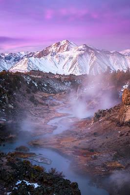 River Mist Photograph - Pink Eastern Sierra by Daniel F.