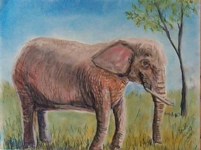 Pink Elephant Art Print by Richard Goohs