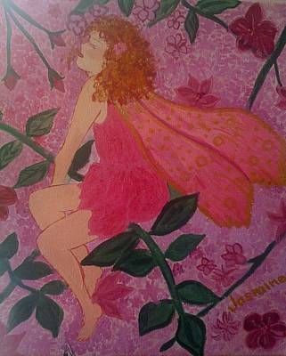 Art Print featuring the painting Pink Fairy by Judi Goodwin