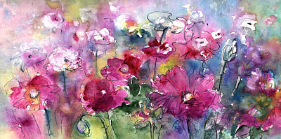 Painting - Pink Field by Miki De Goodaboom