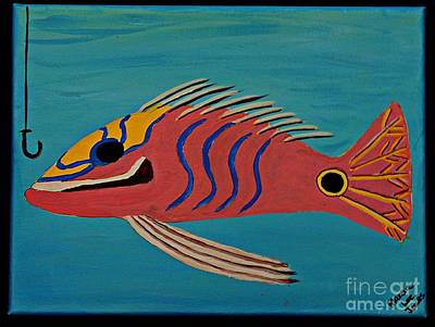Painting - Pink Fish by Marcia Lee Jones