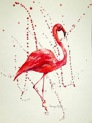 Painting - Pink Flamingo by Tamyra Crossley
